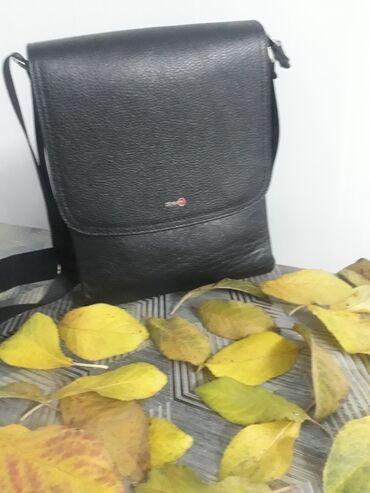 Мужская кожаная сумка Производство турция