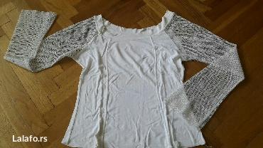 Papuce iz pariza - Srbija: Bela pamučna bluza sa rukavima rupičastim vel m doneta iz pariza