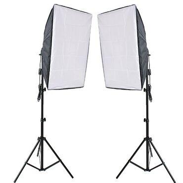 """Аксессуары для фото и видео в Кыргызстан: Студийный свет """"Софтбокс"""" 50x70 (2шт) БишкекСтудийный свет идеален"""