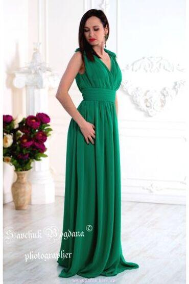 вечернее зеленое платье в Кыргызстан: Вечернее зеленое платье в пол. Элегантное зеленое платье создано из