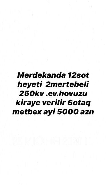 Kirayə Evlər vasitəçidən Uzunmüddətli: 12 kv. m, 6 otaqlı