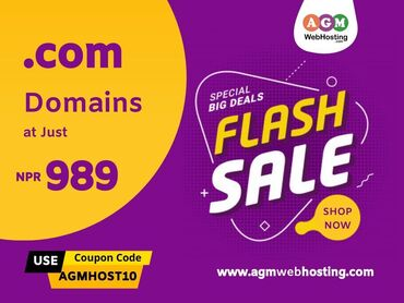 Buy .COM Domain at Just NPR.989 only on AGM Web HostingBuy .COM Domain