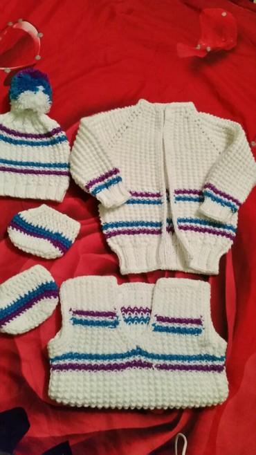 Белый детский комплект 1350 с, фиолетовый 500 с в Бишкек