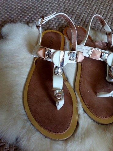 Ženske Sandale i Japanke - Crvenka: Bele sandale Jessigirl br 36 gaziste 24cm