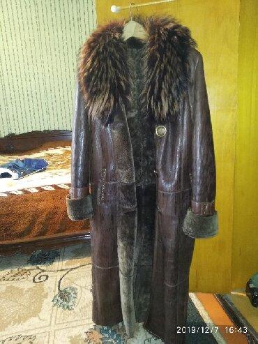 дублёнку женскую в Кыргызстан: Продаю женскую натуральную дублёнку из овчины, размер 46-48