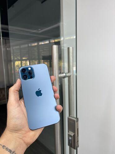 айфон 11 бу цена in Кыргызстан   APPLE IPHONE: IPhone 12 Pro Max   256 ГБ   Синий Б/У   Беспроводная зарядка, Face ID, С документами