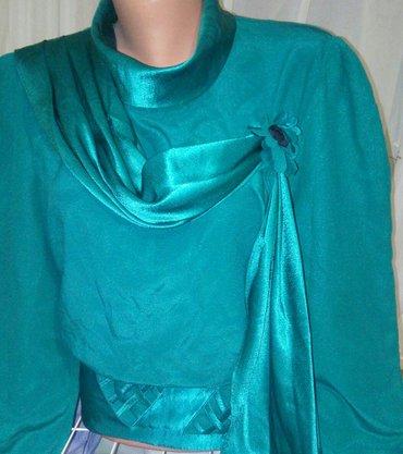 блузка сост новой. р. 46/48 бирюзовый цвет. турция в Кок-Ой