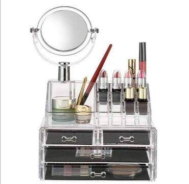 Stalak - Srbija: Stalak za šminku-organizator za šminku sa ogledalomCena 2.299