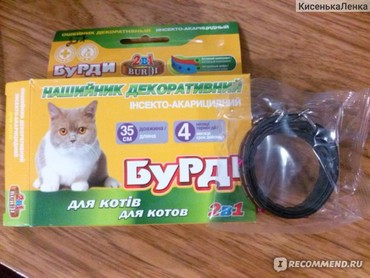 японская порода кошек в Кыргызстан: Описание Ошейник Бурди для Кошек 2в1 (против блох и клещей с