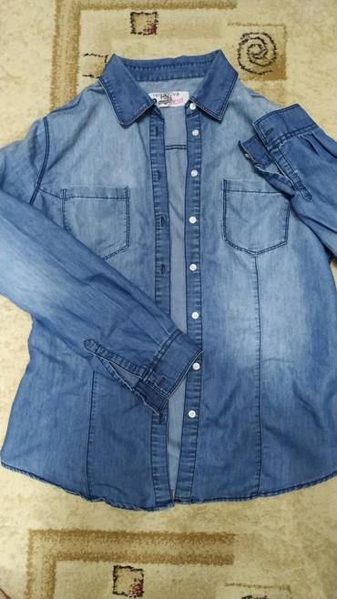 Джинсовая рубашка Теранова, размер 46, хоть и написано что xl