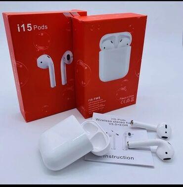 Беспроводные наушники i15 pods Высокое качество звука,✅ Размер один в