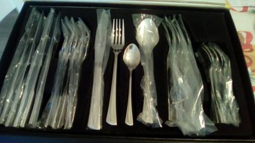 Potpuno nov escajg, šest kašika, viljušaka, noževa i malih - Smederevo