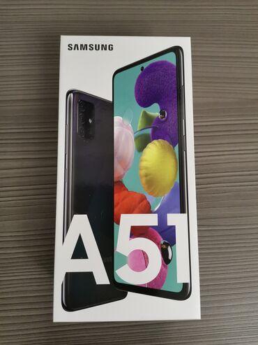 Samsung A51 | 128 ГБ | Черный | Новый | Гарантия, Сенсорный, Отпечаток пальца