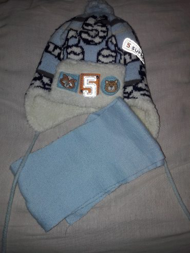 Шапка с шарфом на мальчика 2-3 года в хорошем состоянии в Бишкек