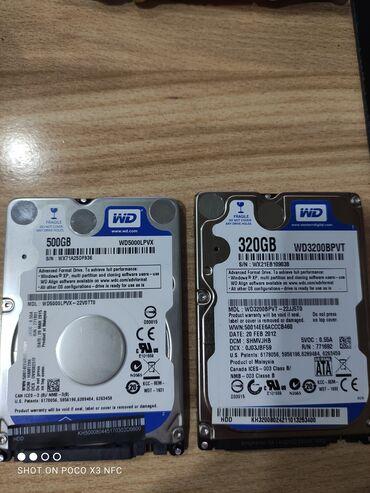 Продаю жёсткие диски для ноутбука  320 gb 800 сом 500 gb 1000 сом