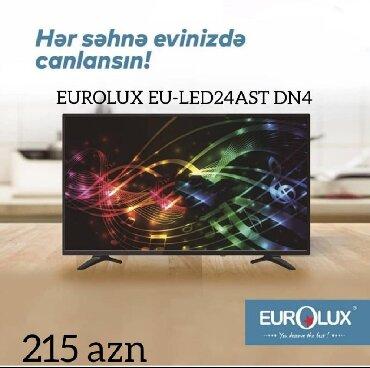 led lampalar - Azərbaycan: Televizor Eurolux Led 24ATSDN4Ekranın ölçüsü 61sm . Daxilində kart