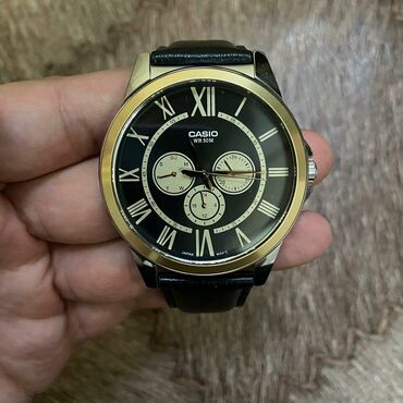 часы-и-нож в Кыргызстан: Черные Мужские Наручные часы Casio