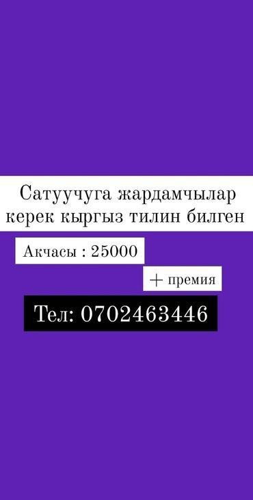 Сатуучуга жардамчылар керек кыргыз тилин билген