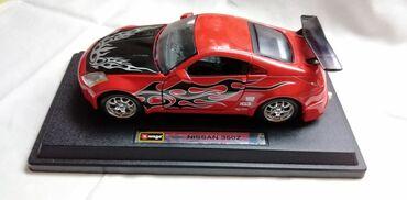Avtomobil modelləri | Srbija: Burago Nissan 350 Z z. spojler, pr. i zad. staklo i pr. resetka nisu