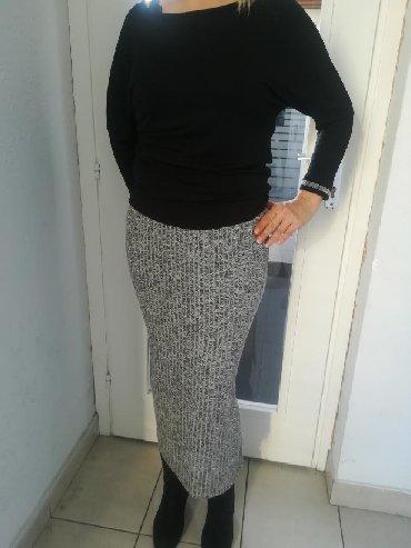 Duga suknja extra rebrasti pamuk sa elastinom Vel S M L Xl Povoljno - Batajnica