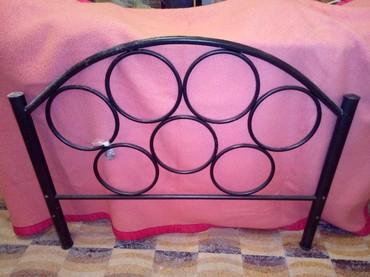 Κρεβάτι σιδερενιο μαύρο με τις ταβλες σε Leros