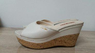 sportivnyj kostjum prada в Кыргызстан: Кожаная женская обувь на платформе . Prada оригинал. Размер 37,5