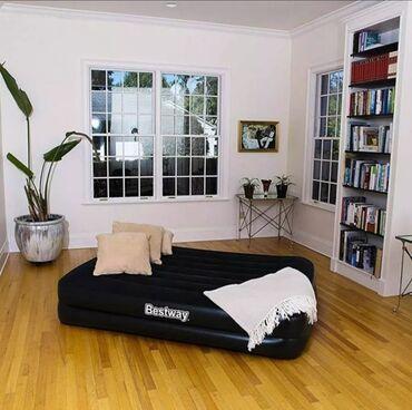 только верх в Кыргызстан: Матрас кровать надувной двуспальный. Доставка Бесплатная.  Насос автом