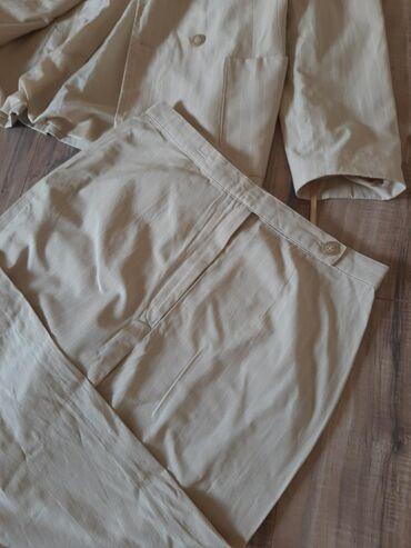 Sako-i-pantalone - Srbija: UPDATE Komplet sako i pantalone. Vel L. Krem bez boje na diskretne