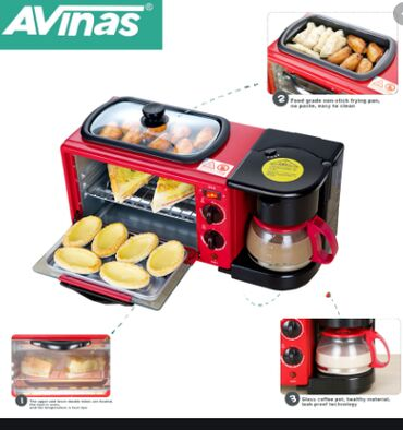 Подробнее о AVINAS AV-9L Электрическая машина для завтрака 3 в 1 Мног