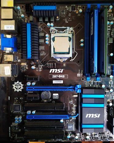 джойстики msi в Кыргызстан: Продаю комплект. Материнская плата Msi Z87 G43 (1150 сокет)Процессор