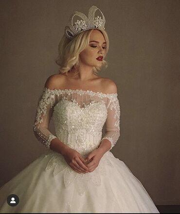 свадебные платья хиджаб в Кыргызстан: Сдаётся платье на прокат и на продажу, платье из Испании Pronovias, но