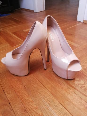 Carape sa prstima - Srbija: Krem cipele sa otvorenim prstima, broj 36