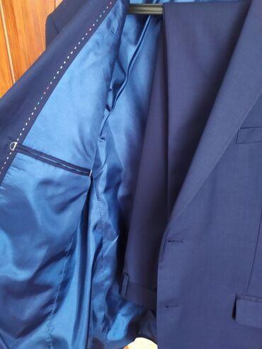 Мужская одежда - Джалал-Абад: Классический костюм двойка темно-синий,почти что новый