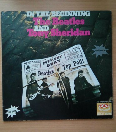 Lp the beatles and tony sheridan, in the beginning, dupli album. in Belgrade