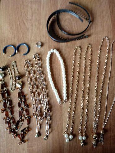 Украшения - Лебединовка: Продаю: бижютерия ( бусы, декоративный ремешок-цепь,, цепочки, серьги