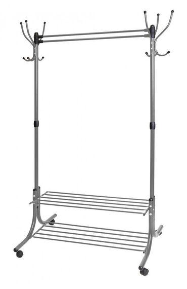 полки для одежды в Кыргызстан: Вешалка напольная гардеробная (арт. ВГП90-6)Вешалка (6 крючков по