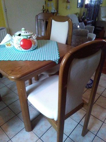 Stol I 4 stolice u kompletu,stol se rastavlja pa je u sekundi duplo - Sombor