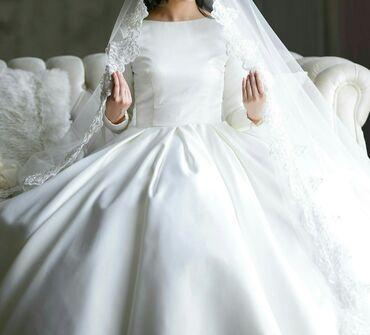 Продаю свадебное платье из итальянского атласа.Сшито по индивидуальном