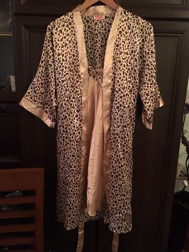 Новая сорочка с халатом,ткань атлас,размер 46-48(Бишкек) в Чаек