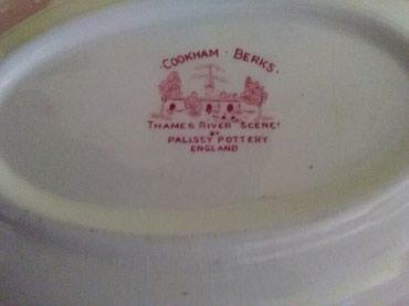 Engleski porculan,tanjir ovalni velikiiii,posuda za supu,ovalna manja - Sombor