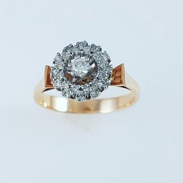 Чёрные кольца из вольфрама - Кыргызстан: Кольцо из красного золота 585проба Вставка бриллиант Размер кольца 17
