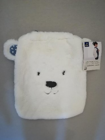 Skolski-ranac - Srbija: Deciji ranac, beli, u obliku polarnog medveda, pogodan za vrtic