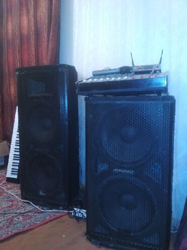 Услуги - Тамчы: Усилитель калонка,радио микрофон арендага берилет тон районуна той