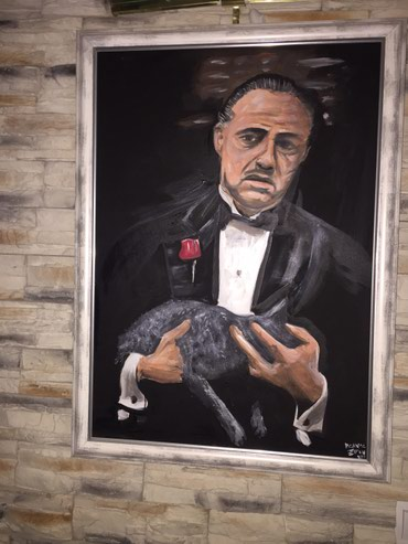 Slika na platnu 50x70 uramljena Godfather don Korleone - Sabac