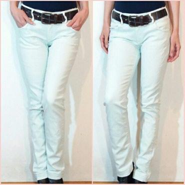 Cepane farmerke - Srbija: ❤ Met jeans,italijanske pantalone prelepe mint boje,na pojedinim