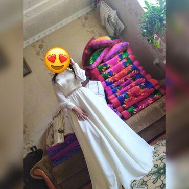 платье на одно плечо с длинным рукавом в Кыргызстан: Продаю платье на кыз узатуу. Надевали 1раз. размер 42-44, цена 3000