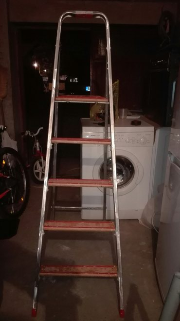 Merdevine molerske, aluminijum, 130 cm visina zadnjeg stepenika, - Batajnica