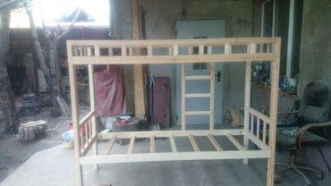 Двухъярусная кровать, длина 2 м, ширина 0,8 м, высота 1,6 м. в Лебединовка