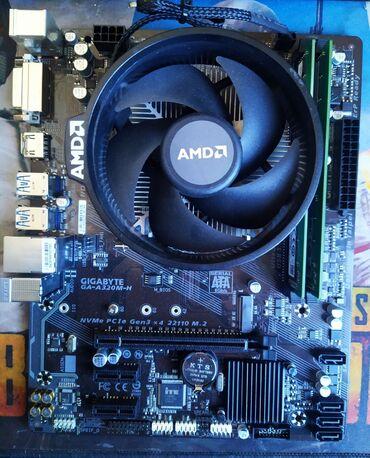 Продаю комплект на amd  материнка gygabyte a320(новая)  процессор ryze