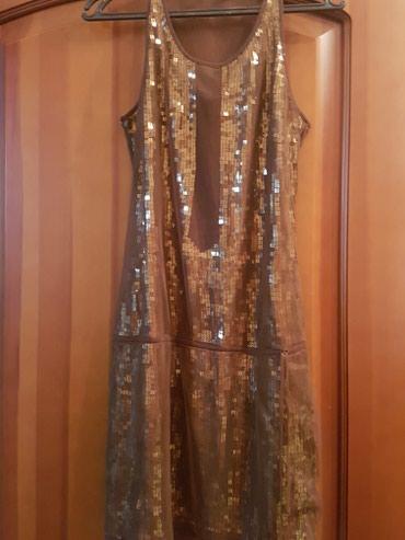 14 объявлений: Платье Mango б/уцвет коричневыйматериал сетка+пайетки размер Lдлина